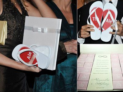 Achei fofo os apelidos em corações, ficou bem próximo dos noivos!