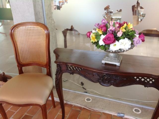 Ambiente montado na entrada do salão