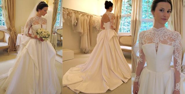 Amei a saia desse vestido. Essa é a parte de cima que foi usada na cerimônia...