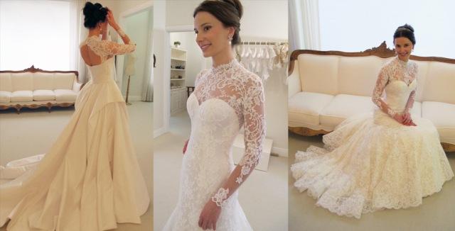 E essa a parte de baixo, que a noiva usou na festa! Dois lindos vestidos em um único!