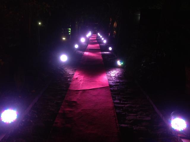 E esta foto do tapete vermelho todo iluminado resume o que senti no primeiro dia!