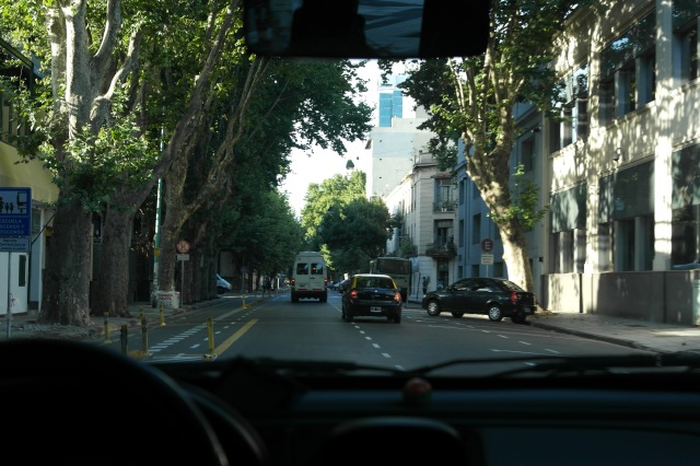 Rua lateral do nosso hotel